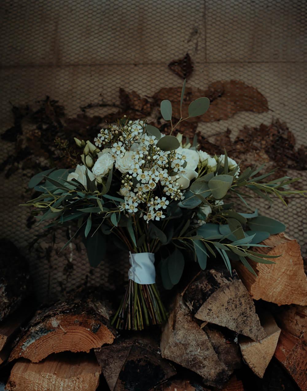 Bouquet Flowers Bride Bridal Greenery Foliage Eucalyptus Combermere Abbey Wedding Damian Brandon Photography