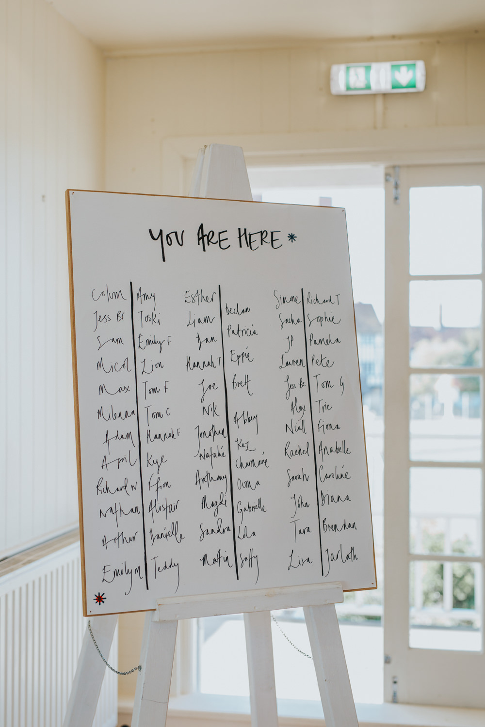 Table Plan Seating Chart Lettering Handwritten Thorpeness Country Club Wedding Charlotte Razzell Photography