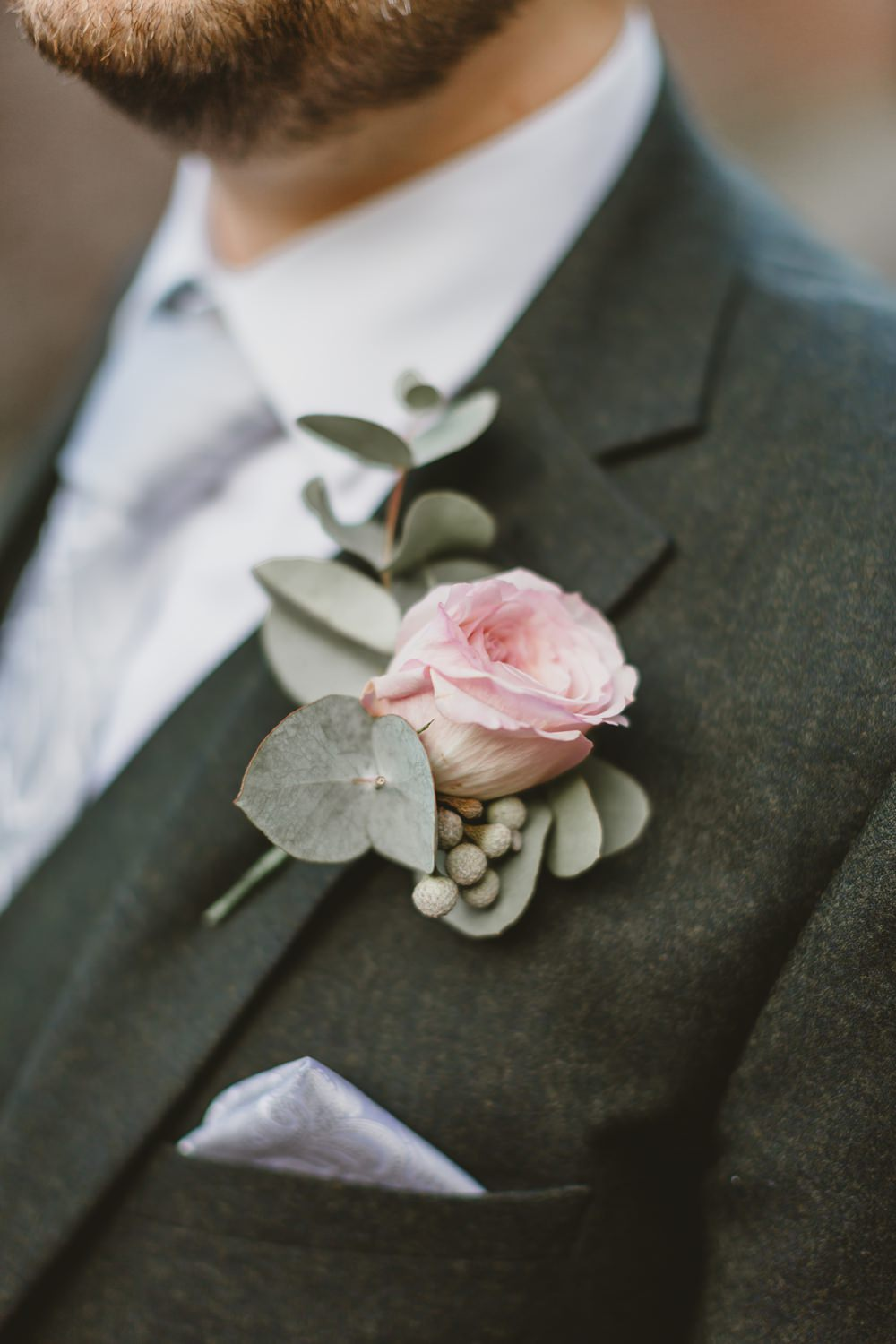 Rose Buttonhole Groom York Minster Wedding Amy Lou Photography