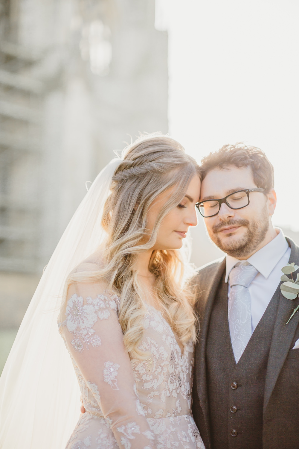 Bride Bridal Hair Style Half Up Half Down Plait Braid Veil York Minster Wedding Amy Lou Photography