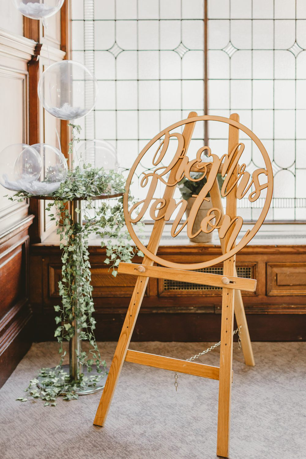 Sign Signs Signage Laser Cut Wooden Hoop York Minster Wedding Amy Lou Photography
