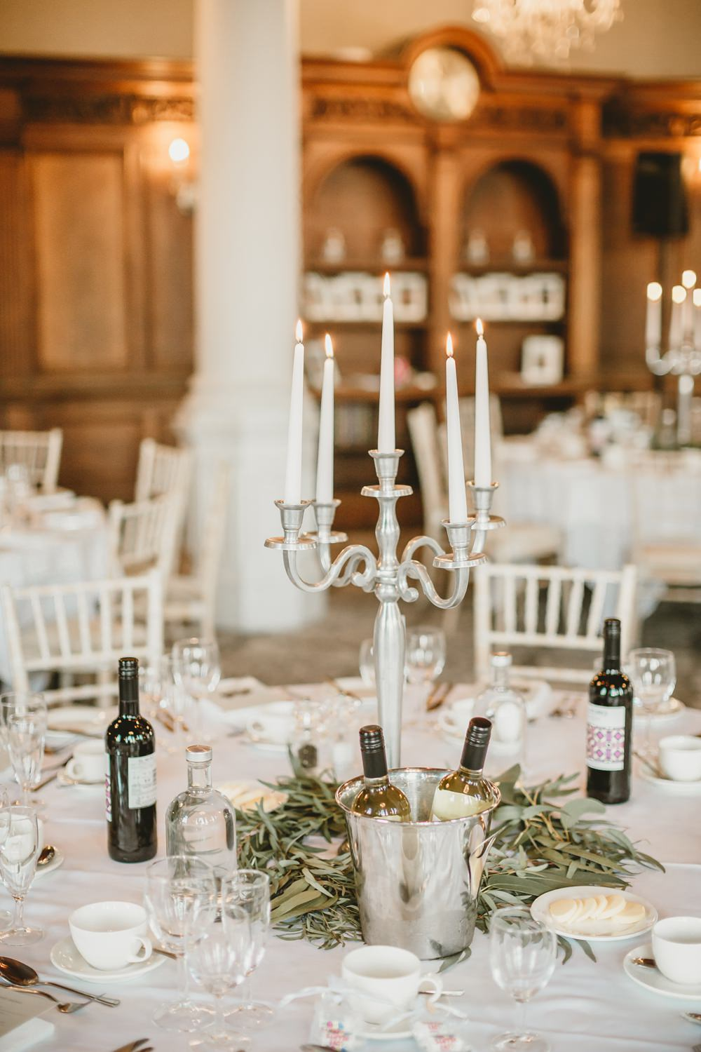 Candelabra Centrepiece Flowers Decor York Minster Wedding Amy Lou Photography