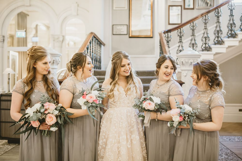 Bridesmaids Bridesmaid Dress Dresses Grey York Minster Wedding Amy Lou Photography