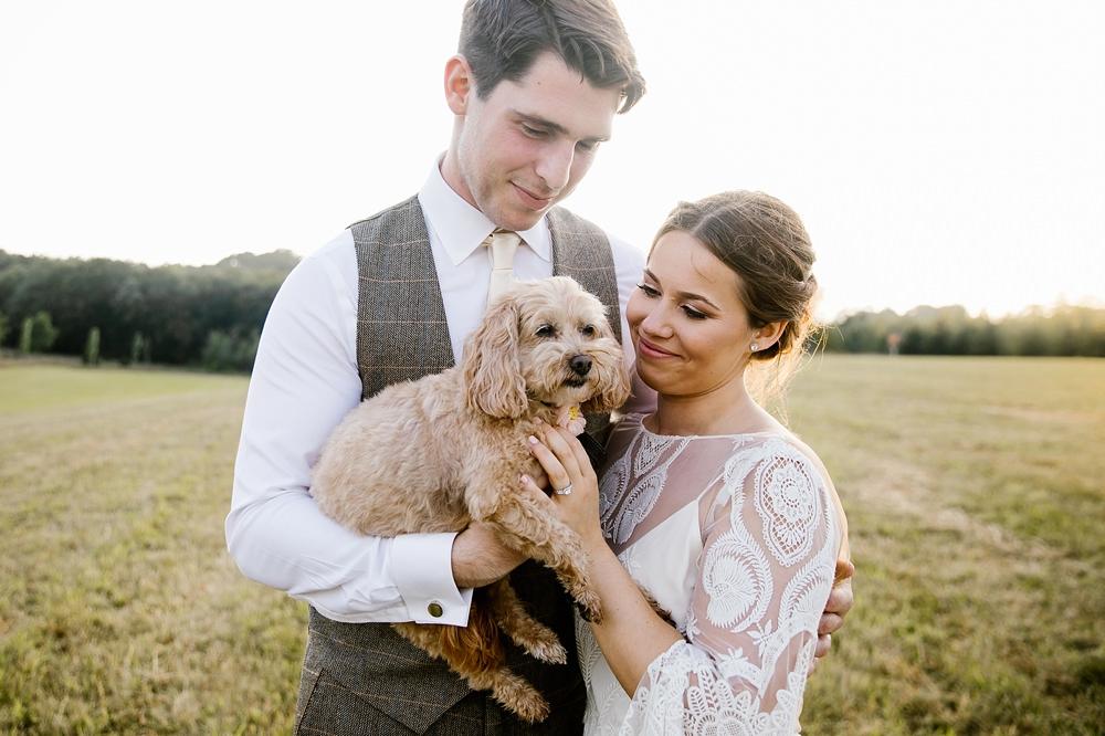 Dog Pet Chaucer Barn Wedding Katherine Ashdown Photography