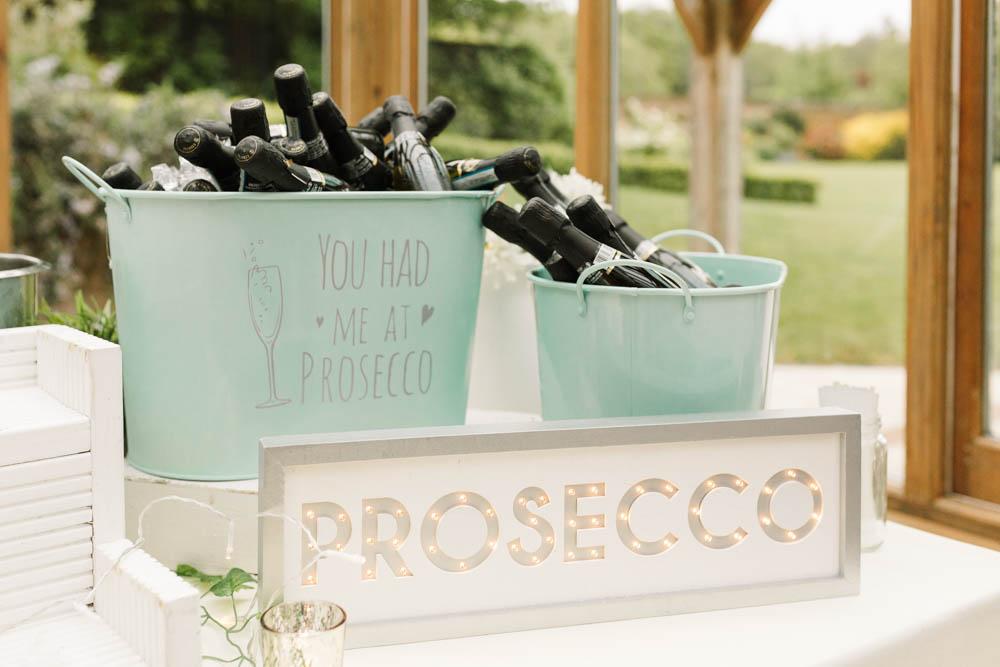 Prosecco Bar Drinks Dove Grey Wedding Danielle Smith Photography