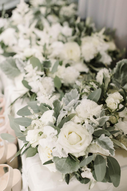 Bouquet Flowers Bride Bridal Olive Ranunculus Rose Anemone Astilbe Foliage Eucaluptus Dusty Miller Dove Grey Wedding Danielle Smith Photography