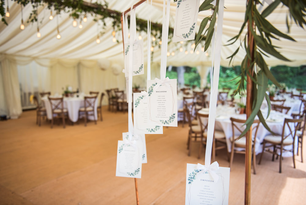 Table Plan Seating Chart Hanging Sopley Lake Wedding One Thousand Words