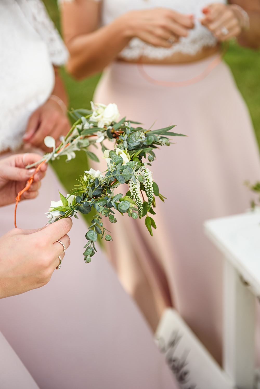 Flower Crown Wreath Sopley Lake Wedding One Thousand Words