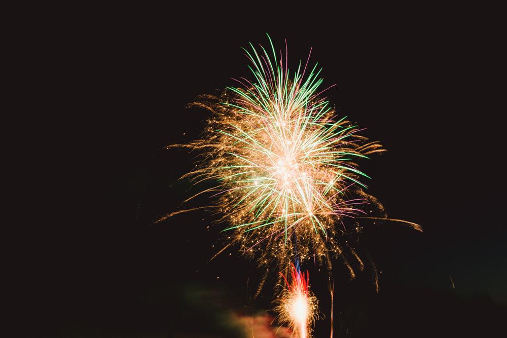 Fireworks Yew Tree Lakes Wedding Charlotte Hu Photography