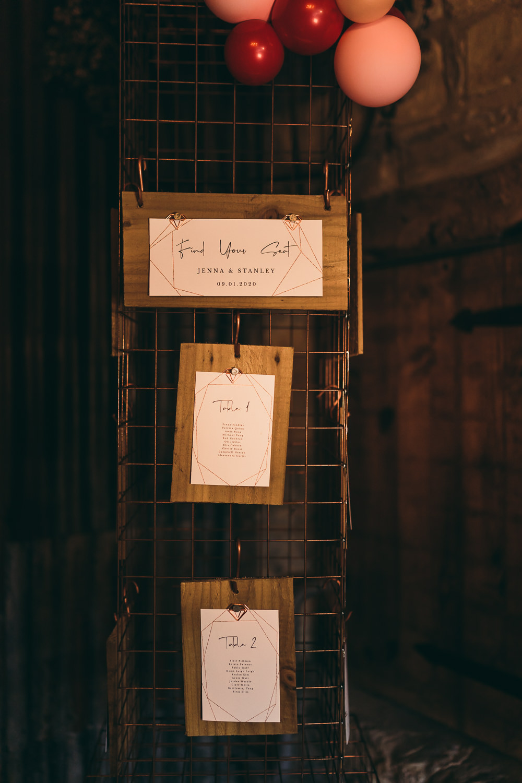 Table Plan Seating Chart Metal Frame Grid Balloon Wedding Ideas Leesha Williams Photography