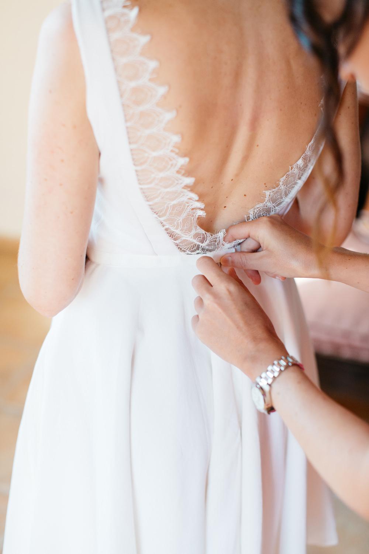 Dress Gown Bride Bridal Faith Cauvin Paris Short Crete Wedding HannaMonika Wedding Photography