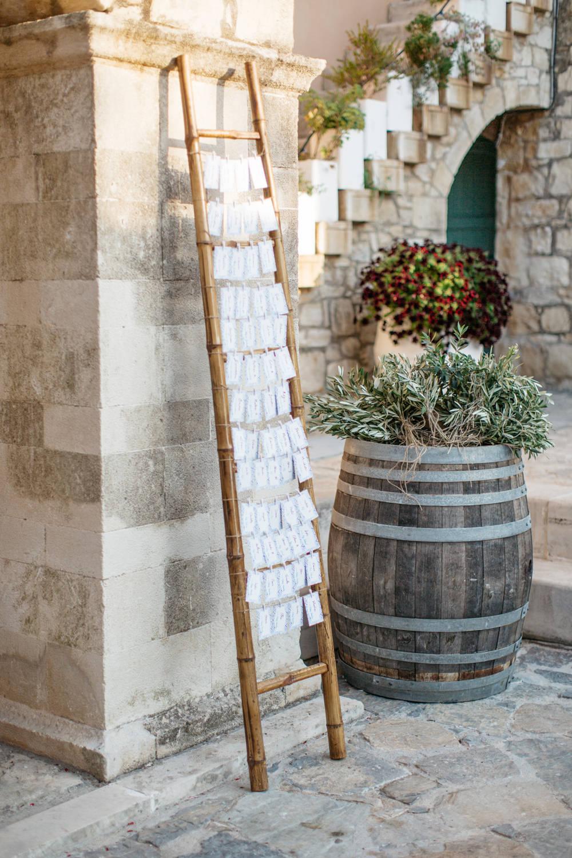 Table Plan Seating Chart Crete Wedding HannaMonika Wedding Photography
