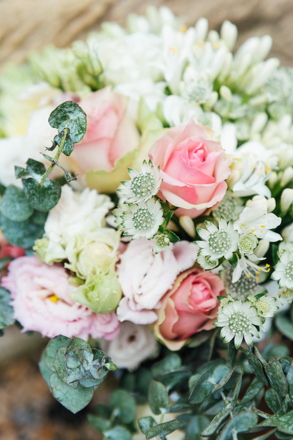 Bouquet Flowers Bride Bridal Pink Rose Greenery DIY Barn Wedding Jessica Grace Photography