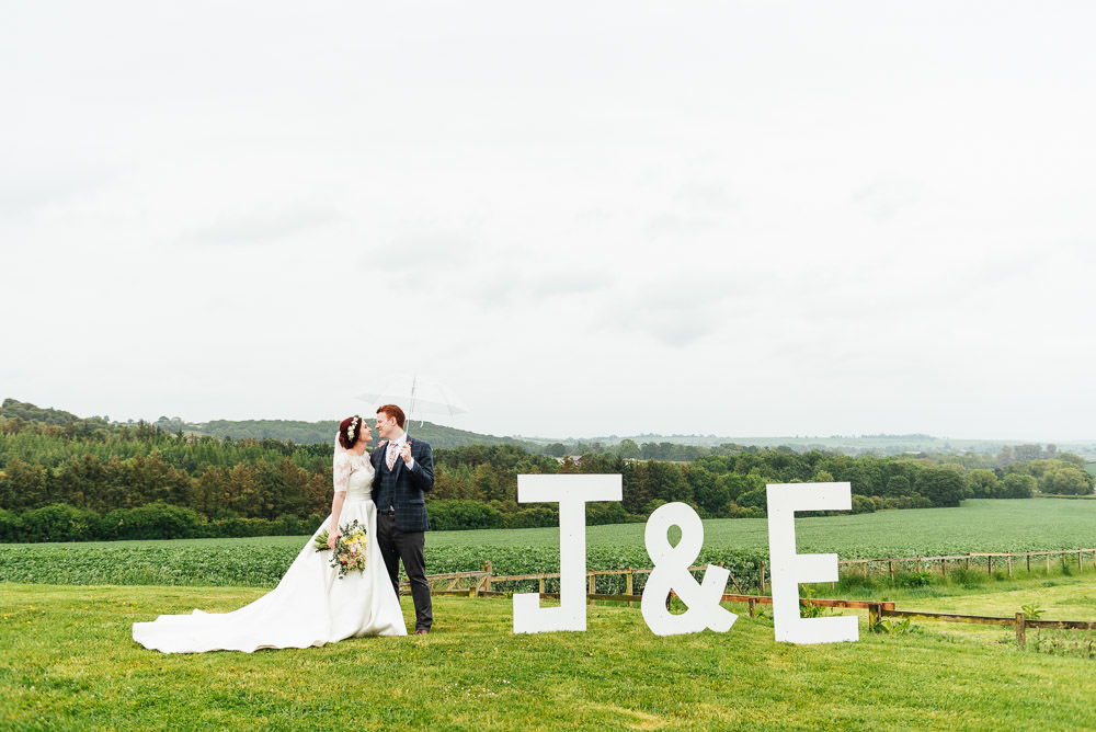 Giant Letters Initials DIY Barn Wedding Jessica Grace Photography