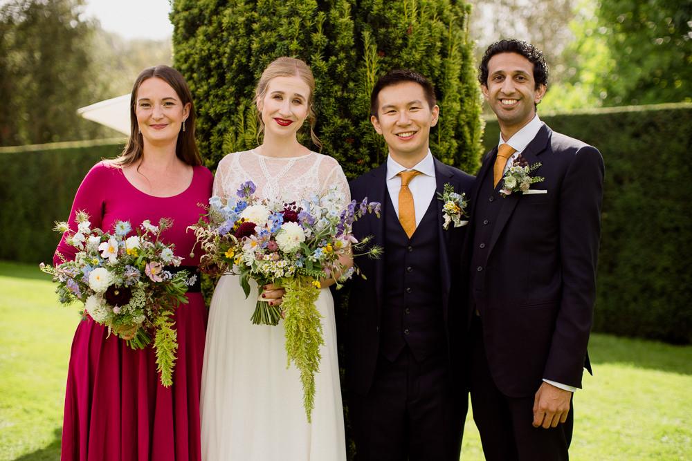 Bridesmaid Bridesmaid Dress Dresses Raspberry Holford Estate Wedding Voyteck Photography