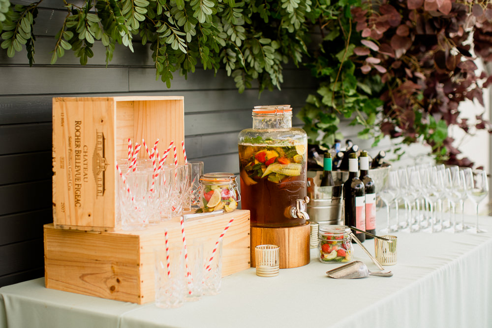 Drinks Dispenser Bar Holford Estate Wedding Voyteck Photography