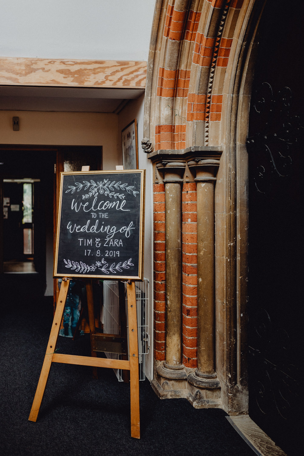 Welcome Sign Black Board Chalk Signs Signage Intimate Pub Wedding Heather Sham Photography
