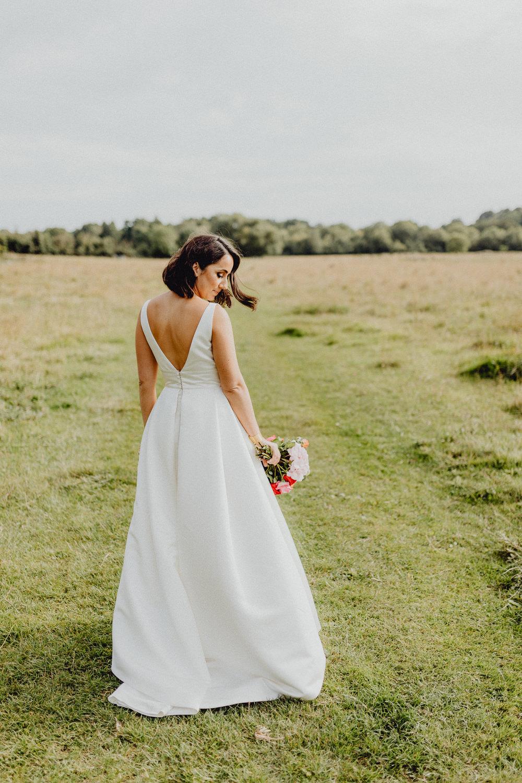 Dress Gown Bride Bridal Jesus Peiro Straps Plunge Skirt Intimate Pub Wedding Heather Sham Photography