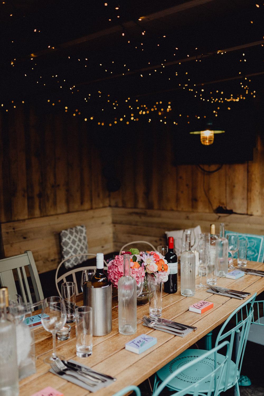 Barn Fairy Lights Boathouse Intimate Pub Wedding Heather Sham Photography