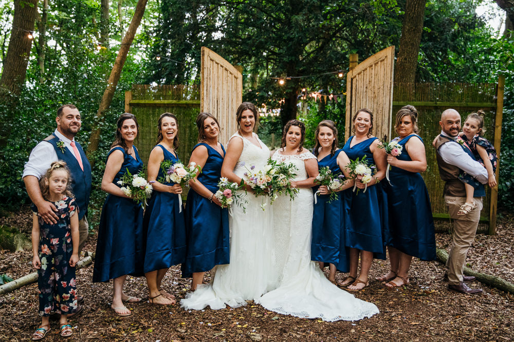 Bridesmaids Bridesmaid Dress Dresses Blue Lila's Wood Wedding Two-D Photography