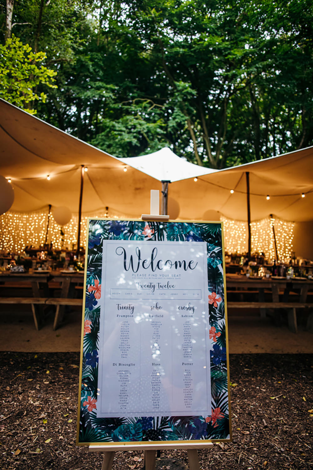 Table Plan Seating Chart Lila's Wood Wedding Two-D Photography