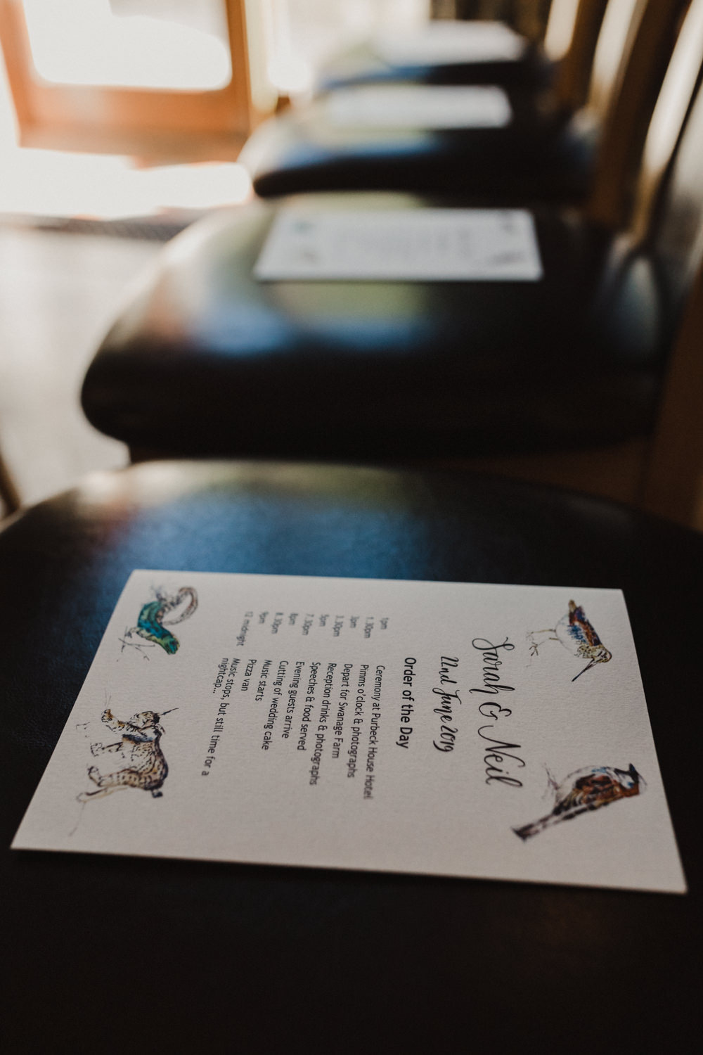 Order of Service Booklet Seaside Wedding Oli and Steph Photography