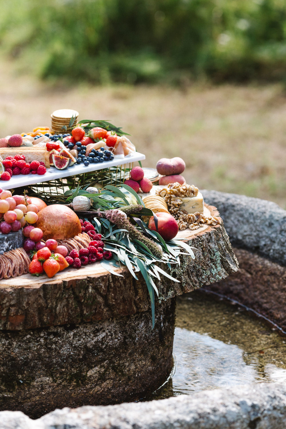 Grazing Table Platter Sharing Boconnoc Wedding Debs Alexander Photography