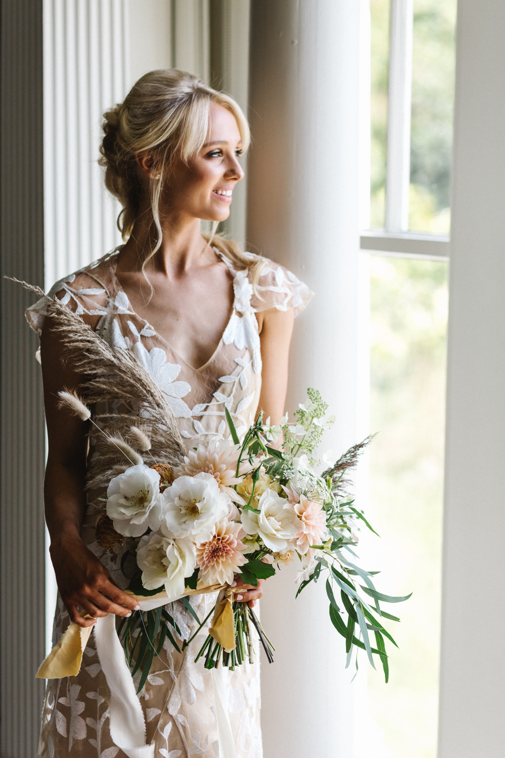Dress Gown Bride Bridal Willowby Opaque Embroided Nude Boconnoc Wedding Debs Alexander Photography