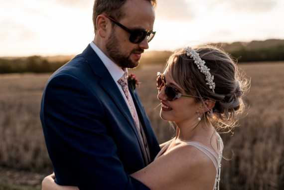 Bonhams Barn Wedding Will Patrick Photography Bride Groom Sunglasses