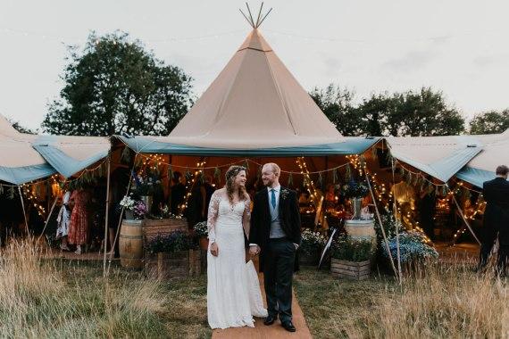 Tipi Reception Country Festival Wedding Jonny Gouldstone Photography