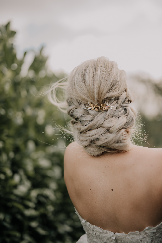 Bride Bridal Hair Style Up Do France Elopement Ideas Pierra G Photography