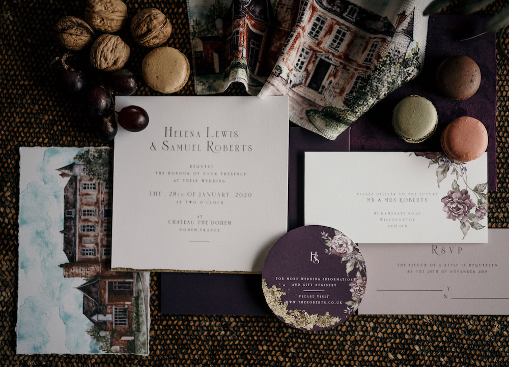 Stationery Invite Invitations France Elopement Ideas Pierra G Photography