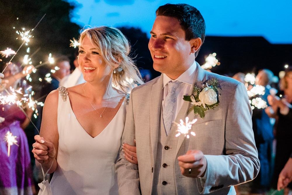 Sparklers Sparkler Great Lodge Wedding Gemma Giorgio Photography