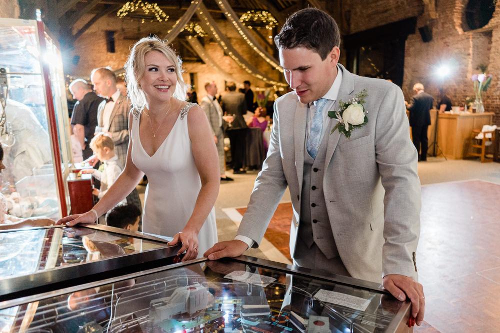 Arcade Games Great Lodge Wedding Gemma Giorgio Photography