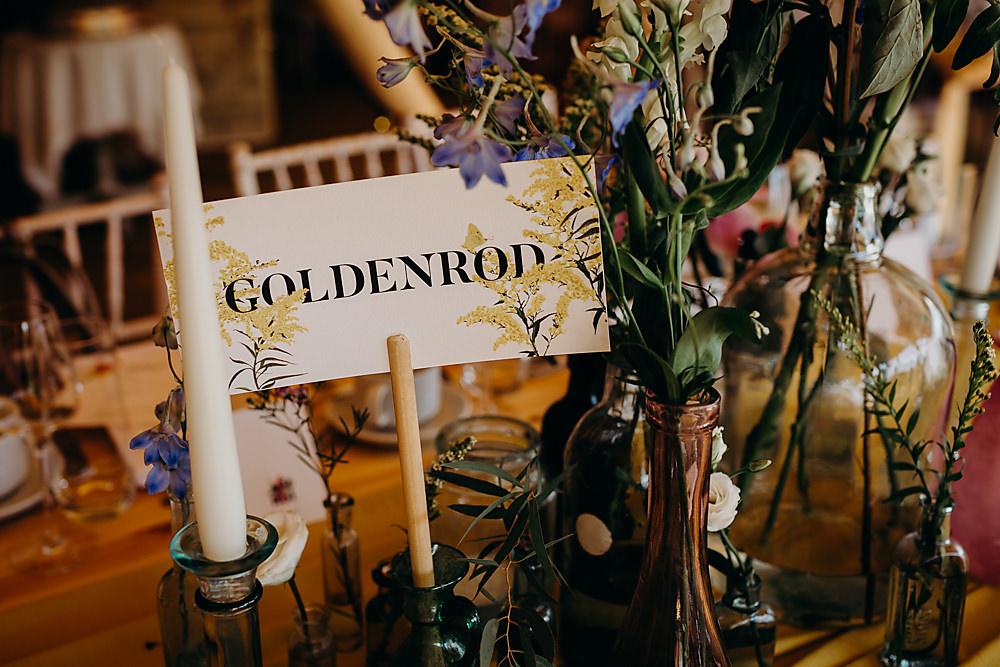 Table Names Hadsham Farm Wedding Victoria Somerset How Photography