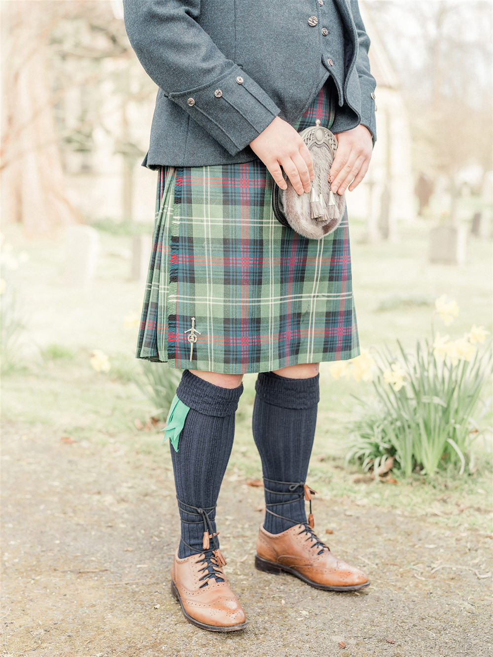 Groom Kilt Suit Tartan Tie Lockdown Wedding Carn Patrick Photography