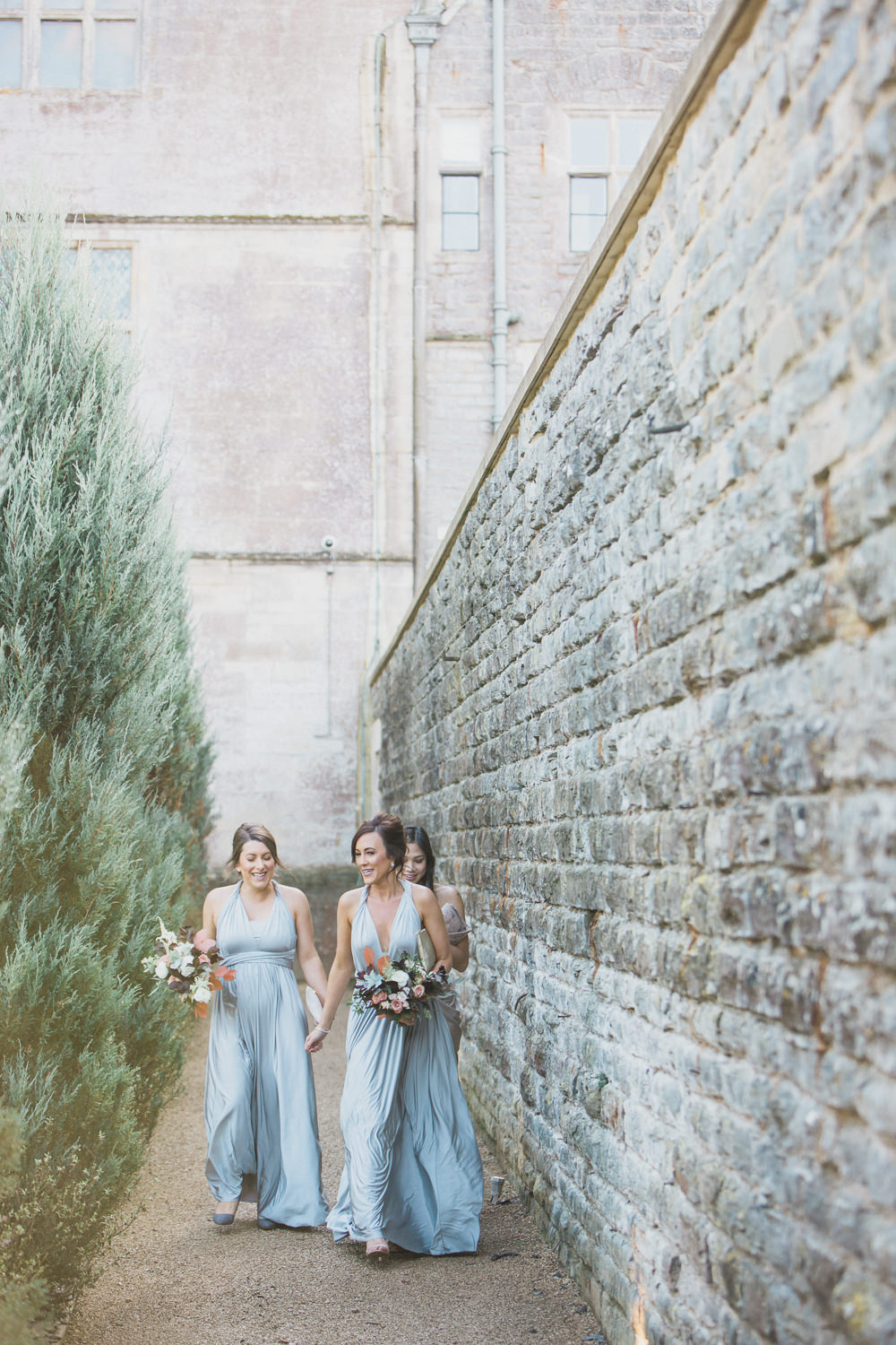 Bridesmaids Bridesmaid Dress Dresses Silver Taupe Modern Romantic Wedding Red Maple Photography