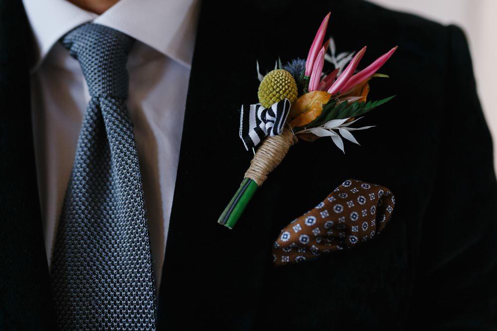 Buttonhole Flowers Village Hall Wedding Emily + Katy Photography