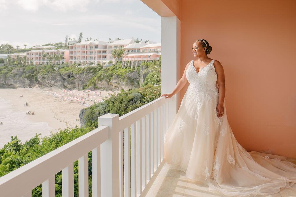 Dress Gown Bride Bridal Lace Straps Bermuda Wedding Helen Abraham Photography