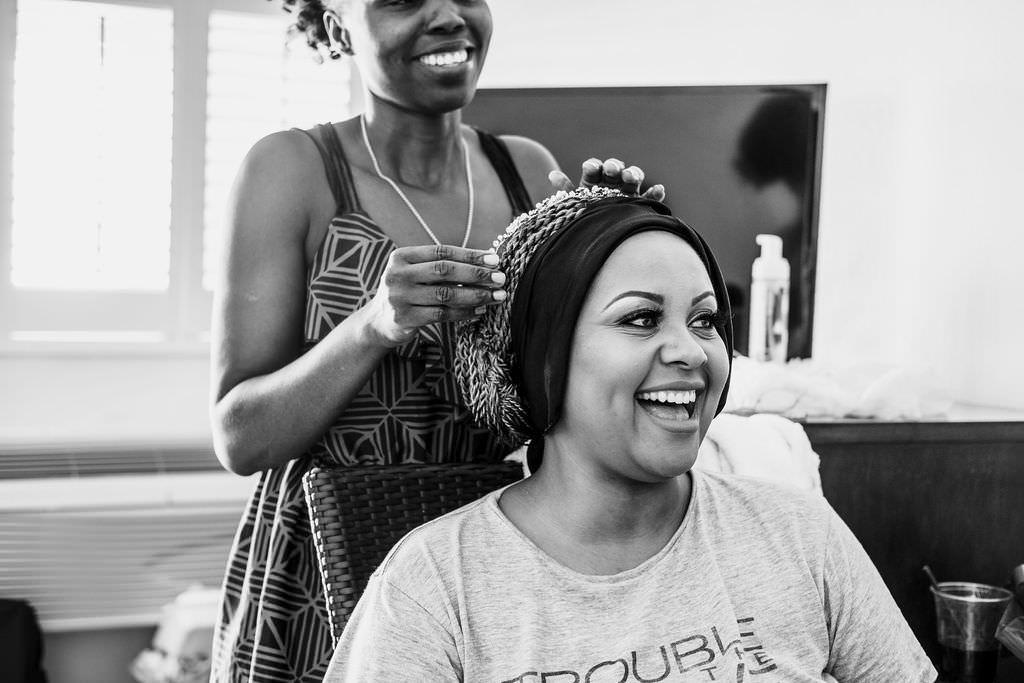 Bride Bridal Hair Make Up Bermuda Wedding Helen Abraham Photography
