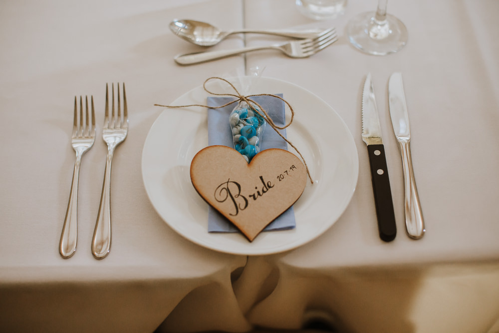 Place Setting Name Heart Crafty Wedding Sam Bennett Photography