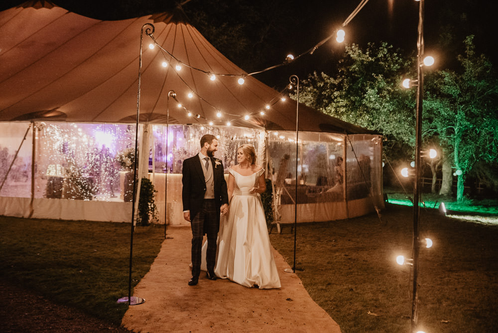 Pole Tent Marquee Festoon Lights Family Farm Wedding Janine Kirkwood Photography