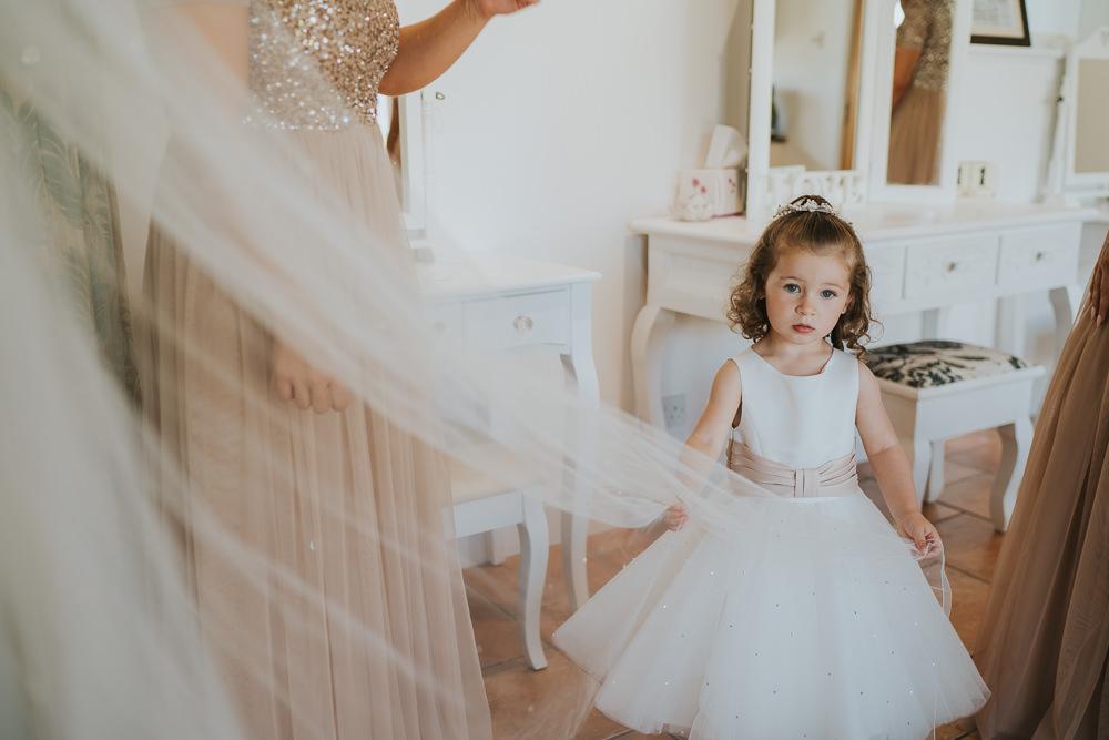 Flower Girl Dress Pink Sash High House Weddings Grace Elizabeth Photography