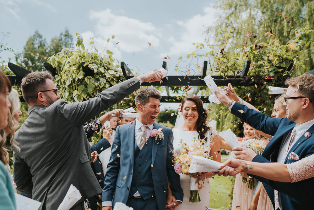 Confetti Throw High House Weddings Grace Elizabeth Photography