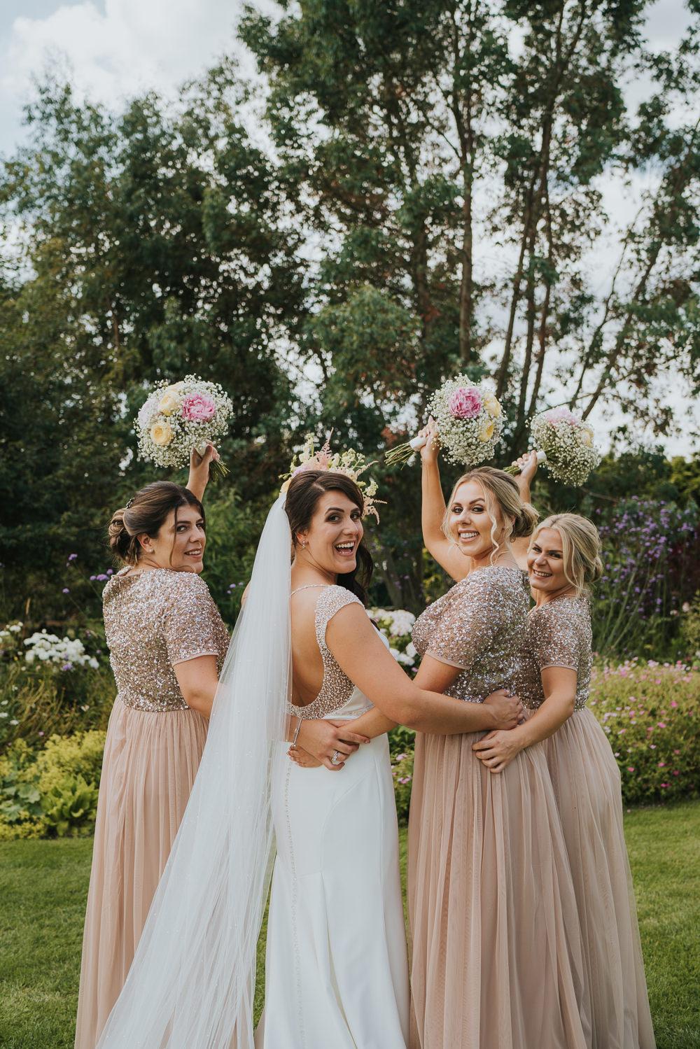 Pink Bridesmaid Dresses Bridesmaids Dress Beaded High House Weddings Grace Elizabeth Photography