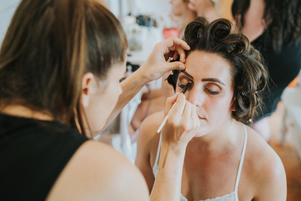 Bride Bridal Make Up High House Weddings Grace Elizabeth Photography