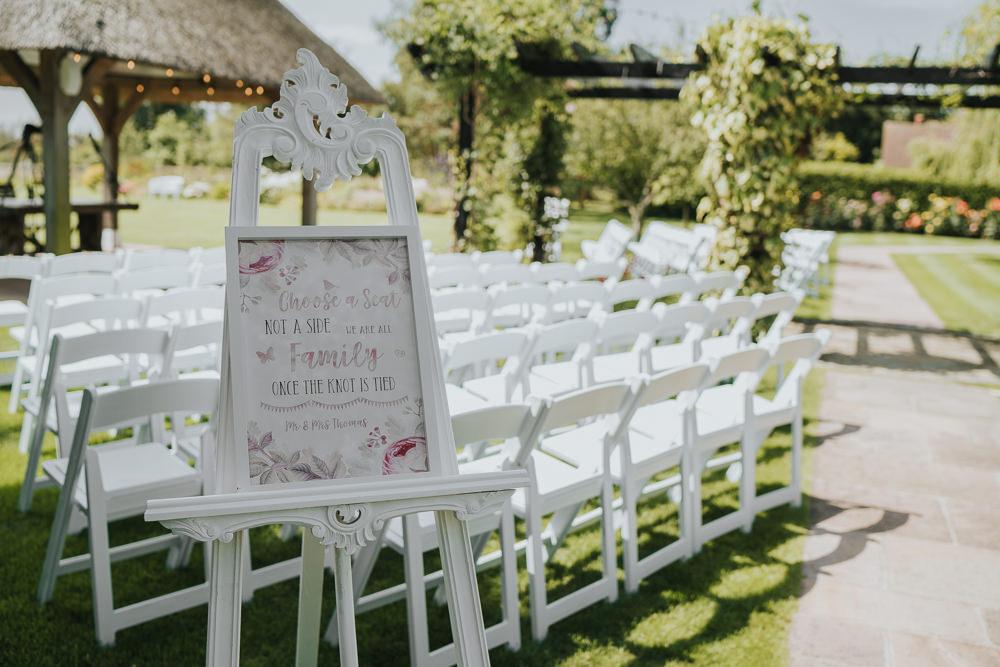 Outdoor Ceremony High House Weddings Grace Elizabeth Photography