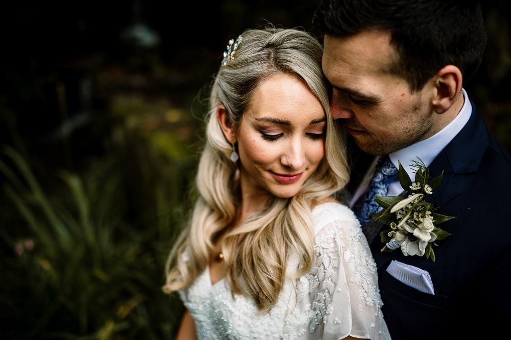 Bride Bridal Hair Waves Make Up Industrial Mill Wedding Hayley Baxter Photography