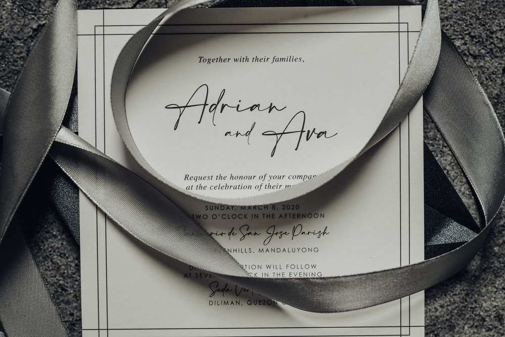 Stationery Invite Invtiations Grey Philippines Wedding The Backyard Studios