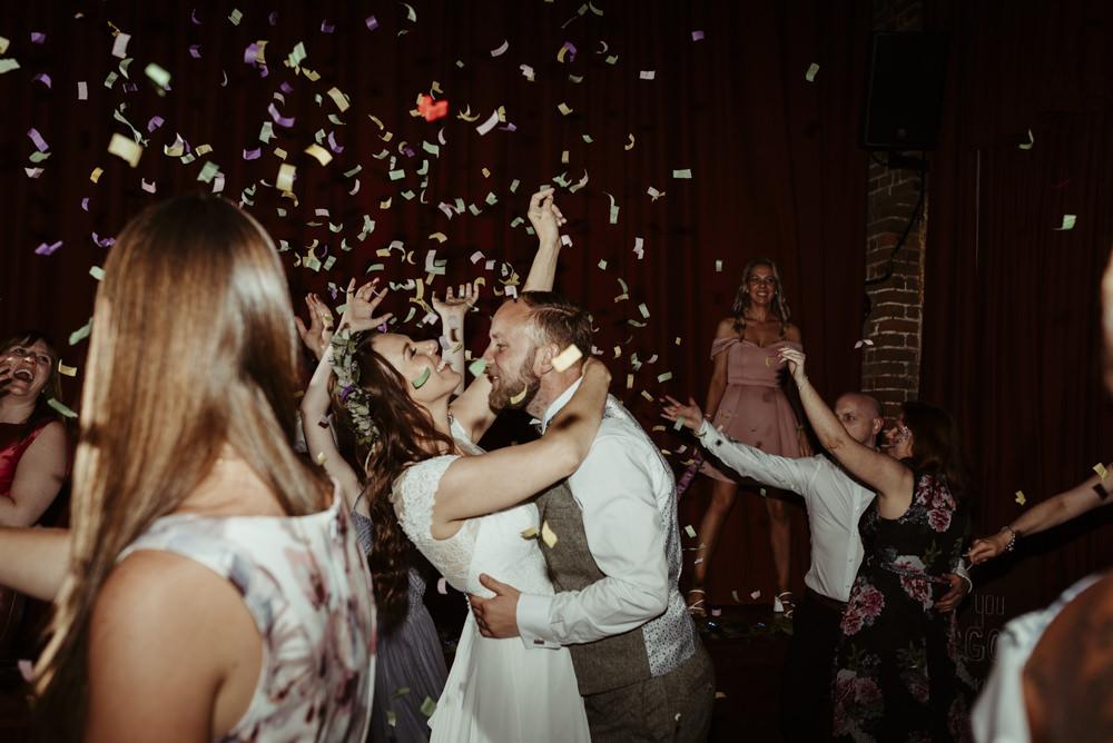 Confetti First Dance Red Brick Barn Wedding Jess Soper Photography